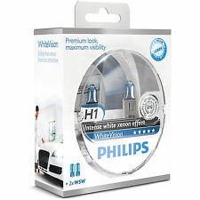 Philips White Vision 40% Whiter Light H1 Headlight Bulbs (Twin Pack of Bulbs)
