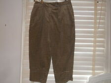 Lilith France ~ Art to Wear ~ Caramel Plaid Velvet Wide Leg Pant ~ LL