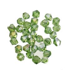 100pcs 4mm Glass Crystal Bicone Spacer Loose Beads AB Color for Jewelry Making