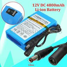DC 12V 4800mAh DC 12480 Rechargeable Portable Li-ion Battery for CCTV Camera