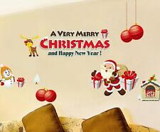 Santa Claus Gift Christmas Decoration Wall Stickers Window Stickers Waterproof