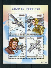 Guinea 2015 MNH Charles Lindbergh 4v MS Airplanes Spirit of St Louis Ryan Stamps