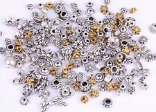 50g(about 90pcs) Mixed Silver/Golden Flower Caps/Spacer Beads For Jewelry Making