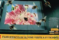 Publicité advertising 1984 (2 pages) Pellicules Film Photo Kodacolor Kodak