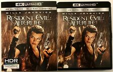 RESIDENT EVIL AFTERLIFE 4K ULTRA HD BLU RAY 2 DISC SET + SLIPCOVER FREE SHIPPING