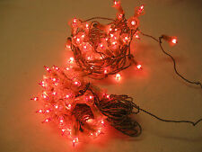 Vintage Two 25' Strands of Christmas Lights Made in Italy