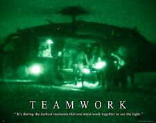 US Military Motivational Poster  Navy Air Force Army Medical Helicopter  MILT50