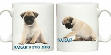 Pug face dog personalised mug name cup puppy dogs GIFT =