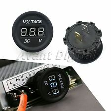 LED Digital Waterproof Voltmeter Gauge Meter 12V-24V For Car Auto Motorcycle