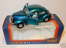 MADE IN  JAPAN TOMICA DANDY VW KAFER 1200 LE COX BEETLE BLEU METAL 1/43 REF F11
