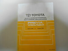 Additive Workshop manual Toyota Previa Tarago 93 Model series TCR 10 11 20 21