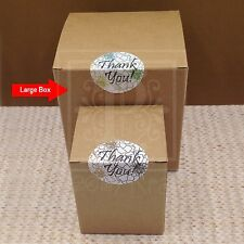 Set of 10 - Large Square Gift Boxes, Holiday Gift Boxes, Boxes, Kraft Gift Boxes