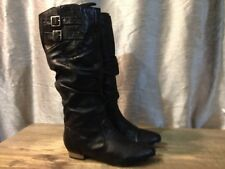 Steve Maddens Pull On Fashion Ridding Boots, Size 7 M