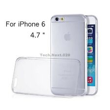 New iPhone 6S 6 Crystal Clear Silicone Case Gel Cover Jelly Bumper Rubber Skin
