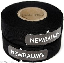 2-Rolls Newbaum's Cotton Cloth Road Bike Handlebar Bar Tape Wrap Newbaums BLACK