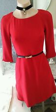 zara red party dress cocktail work races dress with back detail