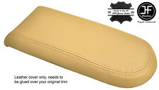 BEIGE GENUINE LEATHER ARMREST LID COVER FOR VW GOLF MK4 JETTA GTI 1998-2005