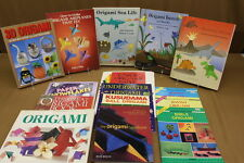 Lot of 14 Origami Instruction Books & Paper: Animals Flowers Holidays Airplanes