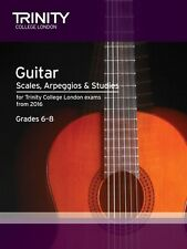 Trinity College Guitar Scales & Exercises Grade 6-8 from 2015 - Same Day P+P