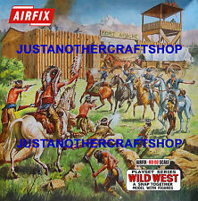 Airfix Wild West Fort 2nd Issue HO-OO 1970's Poster Shop Sign Advert Box Artwork