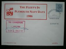 MARRIOTT NAVAL COVER - SIGNED HMS DRAKE PLYMOUTH NAVY DAYS 1986