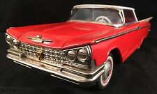 "1959 Tin Toy Buick Friction 2 Door 11""  Ichiko Japan Tin Lithograph Toy Car Wks"