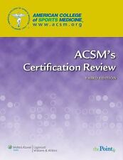 ACSM's Certification Review, American College of Sports Medicine, Good Book