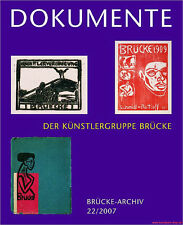 Fachbuch Dokumente der Künstlergruppe Brücke, toller Katalog, viele Bilder, NEU