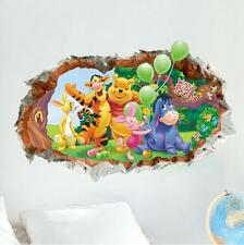 3D winnie the pooh Eeyore Removable Wall Stickers Decal Kids Home Decor