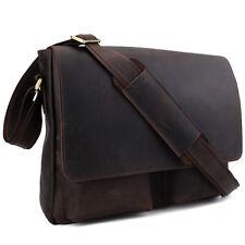 Men's Genuine Leather Offic Messenger Shoulder Bag Casual Schoolbag Satchel Gift
