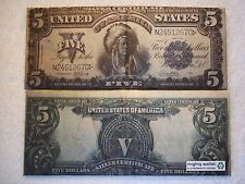 1899 $5 Silver Certificate Indian Chief Running Antelope TYVEK WALLET