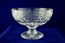 "Stuart Crystal ""EDWARDIAN"" Fruit Bowl - 14cms (5-1/2"") Tall & 20.5cms Diameter"