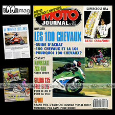 MOTO JOURNAL N°994 GILERA 125 FREESTYLE LAVERDA 1000 V6 KAWASAKI 400 ZXR 1991