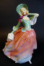 "Royal Doulton Figurine #HN1911 *Autumn Breezes* England Pink/Green - 7 5/8""H"