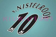 Manchester United v.Nistelrooy #10 PREMIER LEAGUE 97-06 Black Name/Number Set