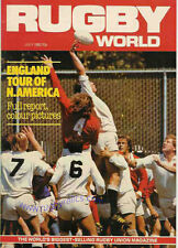 RUGBY WORLD MAGAZINE JULY 1982 - PERFECT GIFT FOR A FAN BORN IN THIS MONTH