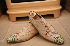 Rare Paul Smith Hand Made In Italy Men's Paint Splatter Shoes Size UK 11