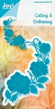 NEW Joy Crafts  Die Cutting & Embossing Stencil - CORNER ROSES -  6002/0368