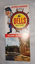 Vintage Brochure The Dells Boat Tours Stand Rock Captain Seemore