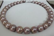 """HUGE 18""""16MM NATURAL SOUTH SEA GENUINE PURPLE LAVENDER PEARL NECKLACE ROUND AA"""