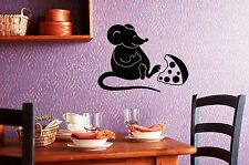 Wall Stickers Vinyl Decal For Kitchen Mouse Cheese Funny Animal ig1541