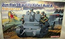 dragon 1/35 GERMAN FLAKPANZER I WWII 2cm Flak 38 AA-GUN