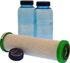 Carbonit NFP Premium Filter und 2 x 0,5 Liter Flasche für den Durst unterwegs