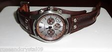 FOSSIL~CH2565~CHRONOGRAPH MAN'S LEATHER WATCH~Water Resistant~RARE~HARD TO FIND!