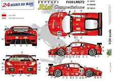 "[FFSMC Productions] Decals 1/24 Ferrari F-430 LMGT2 ""Team RISI"" (LM 2008)"