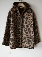 SAINT LAURENT PARIS LEOPARD BAJA HOODED JACKET SMALL S