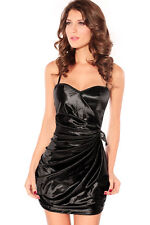 Ultra Elastic and Comfort fit Breath Taking Fancy Party Mini Dress Black