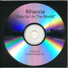 Rihanna Only Girl (In the World) RARE promo acetate CD single w/ instrumental