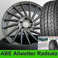"""18"""" ABE Keskin KT17 GRAU 225/40 Ganzjahresreifen für VW Passat 3C bis 2010"""
