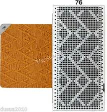 8 punch cards for Brother Knitting Machines SingerSilver